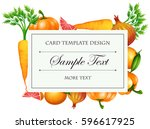 vegetable  business card | Shutterstock .eps vector #596617925