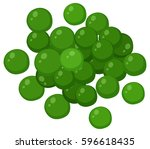 green peas on white background... | Shutterstock .eps vector #596618435