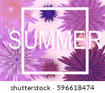 summer background banner with... | Shutterstock .eps vector #596618474