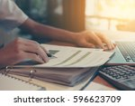finance accounting businessman... | Shutterstock . vector #596623709