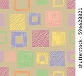 seamless raster geometrical... | Shutterstock . vector #596628821