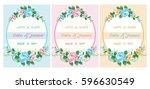 wedding card | Shutterstock .eps vector #596630549