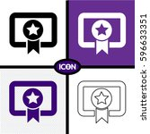 certificate icon | Shutterstock .eps vector #596633351