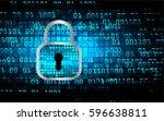 future technology  blue cyber...   Shutterstock .eps vector #596638811