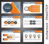 orange presentation templates... | Shutterstock .eps vector #596647529