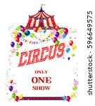 circus holiday card | Shutterstock .eps vector #596649575