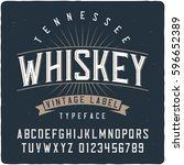 vintage label typeface named ... | Shutterstock .eps vector #596652389
