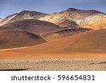 high altiplano plateau  eduardo ... | Shutterstock . vector #596654831