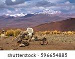 high altiplano plateau  eduardo ...   Shutterstock . vector #596654885