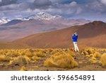 high altiplano plateau  eduardo ... | Shutterstock . vector #596654891