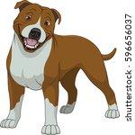 vector illustration  funny... | Shutterstock .eps vector #596656037