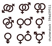 gender and sexual orientation... | Shutterstock .eps vector #596659511