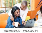 young people share knowledge by ... | Shutterstock . vector #596662244