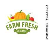 organic food emblem and badge | Shutterstock .eps vector #596666615