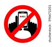 stop vertical video. it is... | Shutterstock . vector #596672201