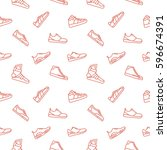 men shoes background seamless... | Shutterstock .eps vector #596674391