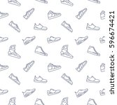 men shoes background seamless... | Shutterstock .eps vector #596674421