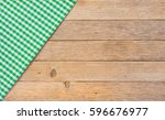 green table cloth covered on... | Shutterstock . vector #596676977