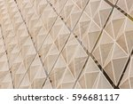 the wall of a modern building.... | Shutterstock . vector #596681117