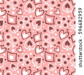 seamless vector pattern with... | Shutterstock .eps vector #596682959