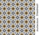 seamless vector decorative hand ... | Shutterstock .eps vector #596684669