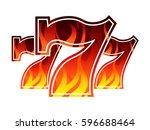 triple lucky blazing sevens... | Shutterstock .eps vector #596688464