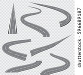 winding curved road or highway...   Shutterstock .eps vector #596689187