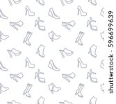 women shoes background seamless ... | Shutterstock .eps vector #596699639