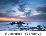 dawn at chemical beach   dawdon ... | Shutterstock . vector #596708429