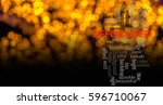 word  defocused with blurred... | Shutterstock . vector #596710067