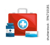 color healthcare ... | Shutterstock .eps vector #596710181