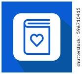 love book vector icon   Shutterstock .eps vector #596710415