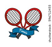 emblem tennis game icon | Shutterstock .eps vector #596712455