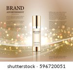 cosmetic ads template ... | Shutterstock .eps vector #596720051