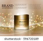 cosmetic ads template ... | Shutterstock .eps vector #596720189
