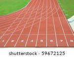 Numbered Running Tracks Of A...