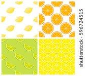 citrus fruits bright vector...   Shutterstock .eps vector #596724515