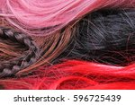 wig texture. synthetic hair...   Shutterstock . vector #596725439