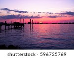 clear water  fl sunsets near... | Shutterstock . vector #596725769