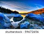 beautiful lake view with...