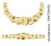 Abstract Beads Pattern In Gold...