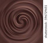 liquid chocolate swirl vector... | Shutterstock .eps vector #596729651