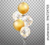 3d  holiday illustration bunch...   Shutterstock . vector #596729705