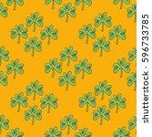 decorative seamless pattern... | Shutterstock .eps vector #596733785