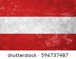 austria   austrian flag on old... | Shutterstock . vector #596737487