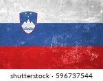 slovenia   slovenian flag on... | Shutterstock . vector #596737544