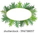 vector oval frame illustration... | Shutterstock .eps vector #596738057