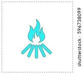 bonfire outline vector icon...