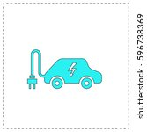 electric car outline vector...