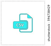 csv outline vector icon with...
